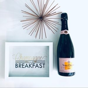 Other - 'Champagne for Breakfast' Home Decor Wall Art